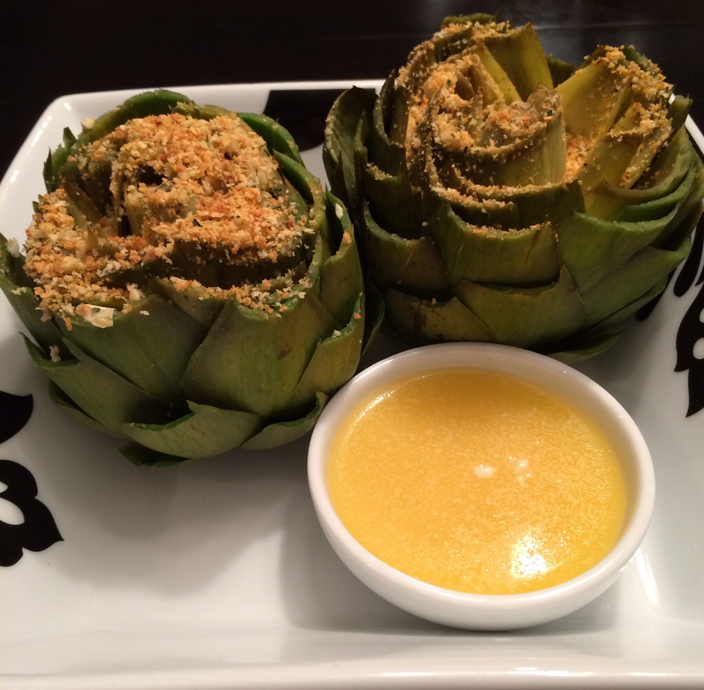 Garlic Lemon Artichokes